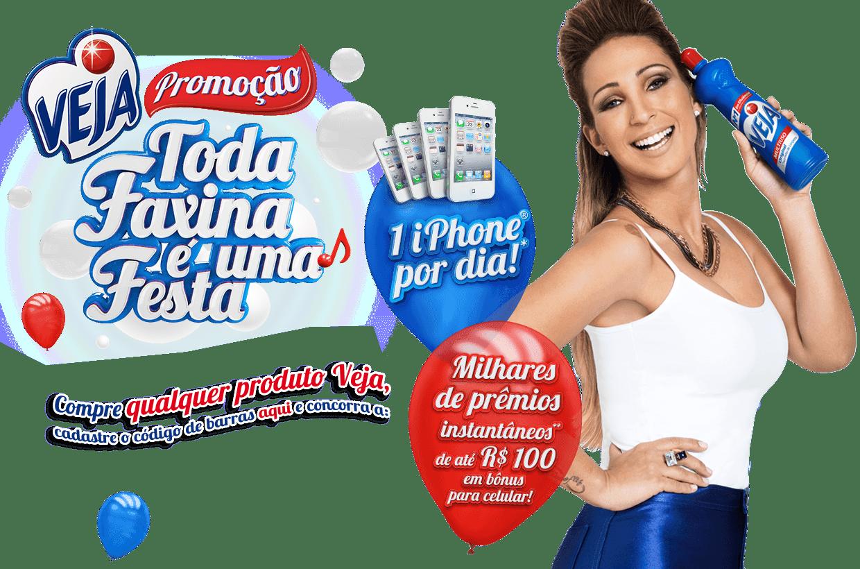 """Promoção Veja - """"TODA FAXINA É UMA FESTA"""""""