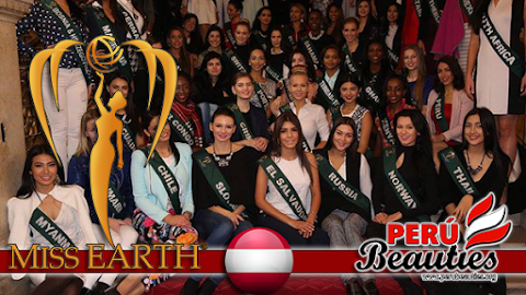 Miss Earth 2015 Tours the Rathaus in Vienna