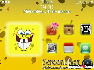 Tema BlackBerry 8520 Sponge Bob Download Tema BlackBerry 8520 Gratis 2012
