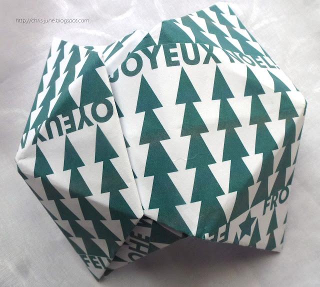 Origami Box Module ineinanderstecken