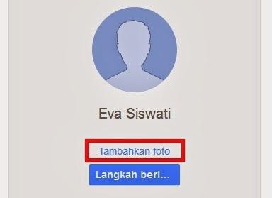 klik Tambahkan Foto untuk memasukkan gambar profil email anda