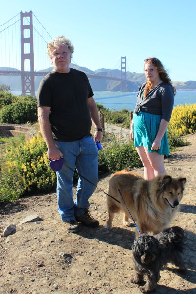 Bill, Rachel, Frisky and Toto in San Francisco 6-6-2012