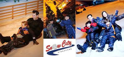 kota salju, bermain salju, suasana salju, dingin, meluncur di salju, wisata di singapore