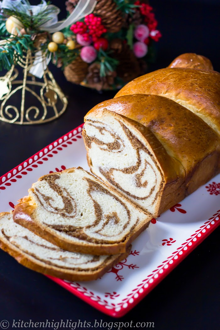 Pecan swirl bread is a traditional Romanian recipe that has become a staple around holidays