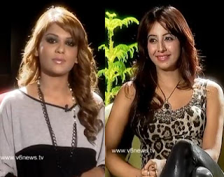 Actress Sanjana in Kathi Karthika Show