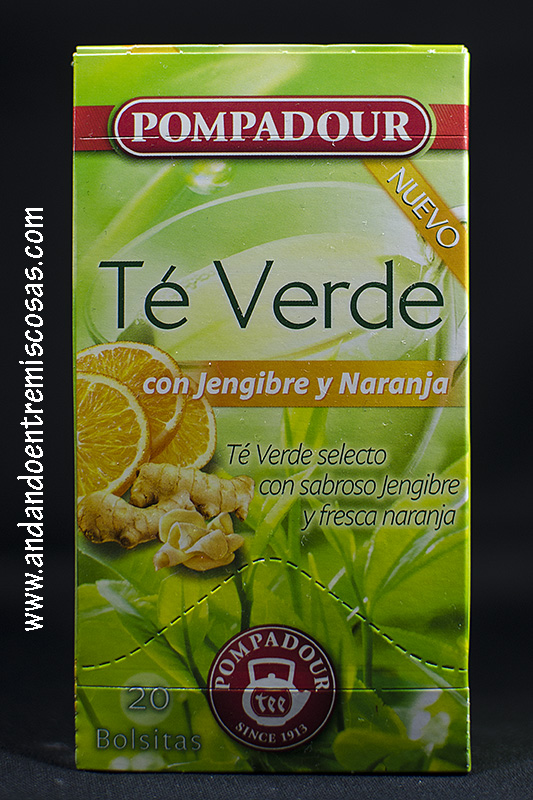 Te verde con jengibre y naranja de Pompadour