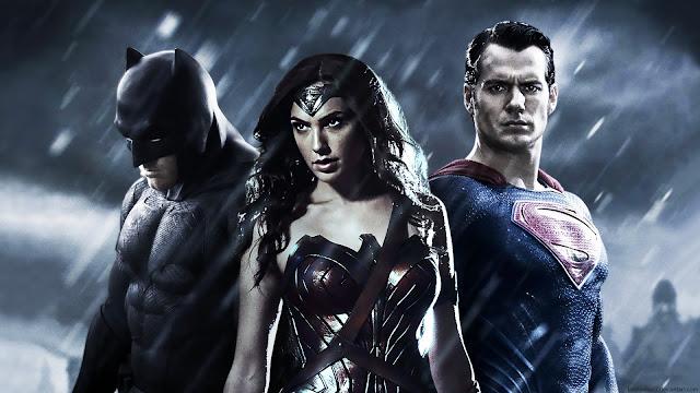 Superman Batman y Diana Batman v Superman
