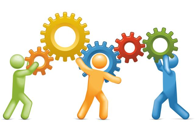 Clip Art Working Together as a Team