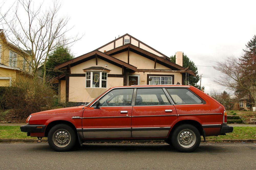 Old parked cars 1981 subaru gl