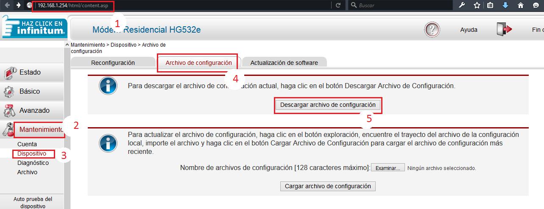 Huawei HG532e Config Files - Archivos De Configuracion TELMEX 3 Mb