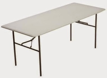 home depot has this lifetime 6foot residential folding table for through only after that it goes up to - 6 Foot Folding Table