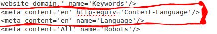 Language Declaration Meta Tags