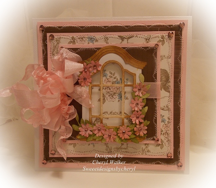 Sweeet designs by cheryl victorian window card for Victorian window design