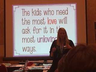 A quote from Elizabeth Hall's presentation at I Teach K.