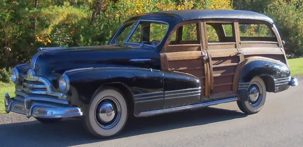Labor cost high upkeep and all steel bodies spelled the end of the true woodie wagon by 1949. By the 1950s wood was reduced to trim elements and real wood ... & 1947 Pontiac Streamliner Woodie Wagon: Indian Hauler ...
