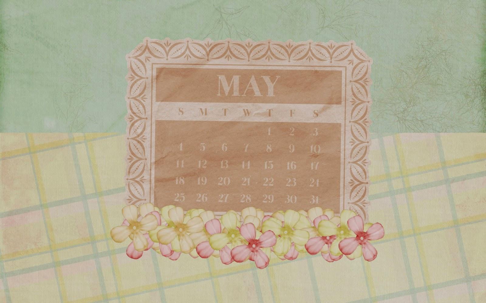 Desktop background with a calendar