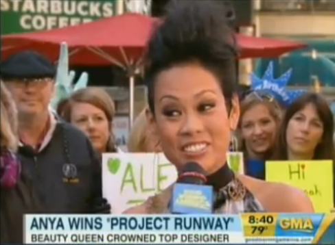 Project Runway Winner Anya Ayoung-Chee on Good Morning America VIDEO
