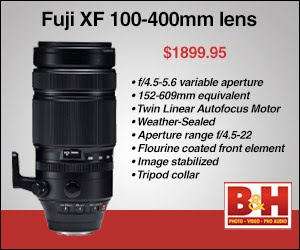 Order the Fuji XF 100-400 Zoom