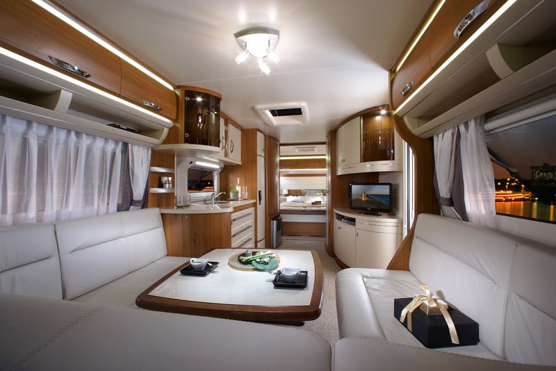 Awesome Hobby Caravans Interior Features Picture