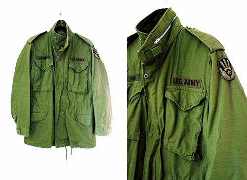 Vintage 1970s Army Parka Jacket new to the Cut and Chic Vintage shop on Etsy