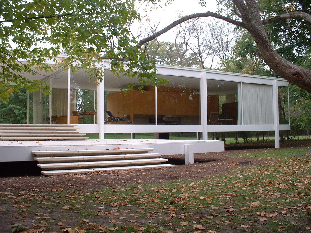 Farnsworth House By Mies Van Der Rohe Historic Design