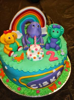 Barney Cake for Ciska