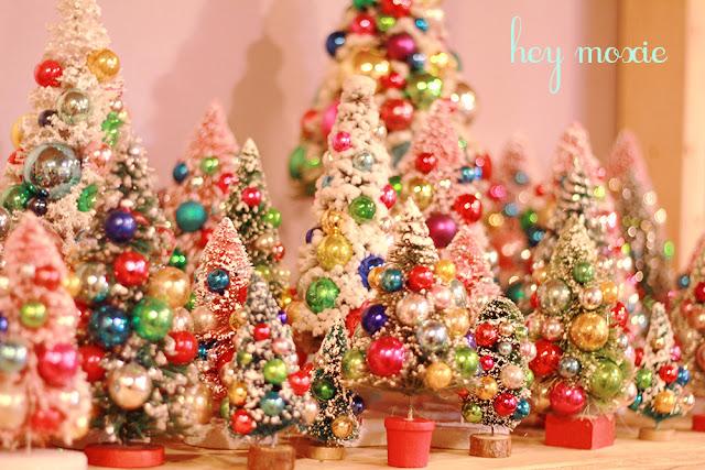 Hey Moxie: vintage bottle brush christmas trees
