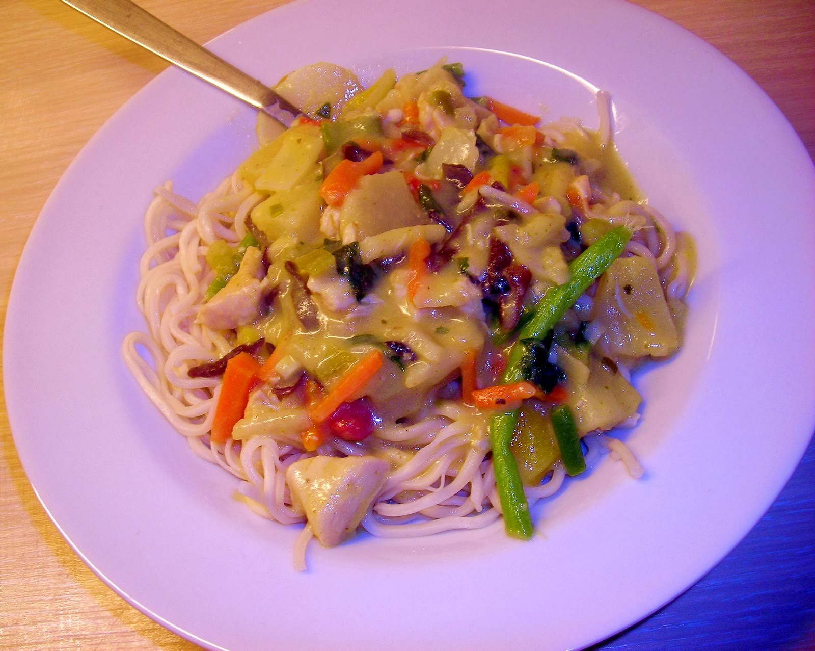Thai green curry med kylling