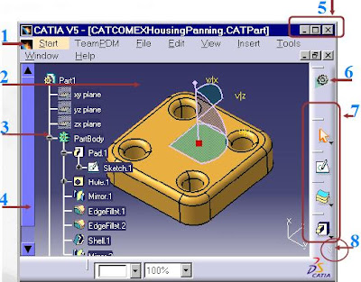 User Interface for catia mechanical design