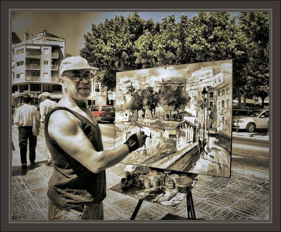 SANT FELIU DE GUIXOLS-GIRONA-PINTORS-PINTOR-PINTURA-FOTOS-ERNEST DESCALS-