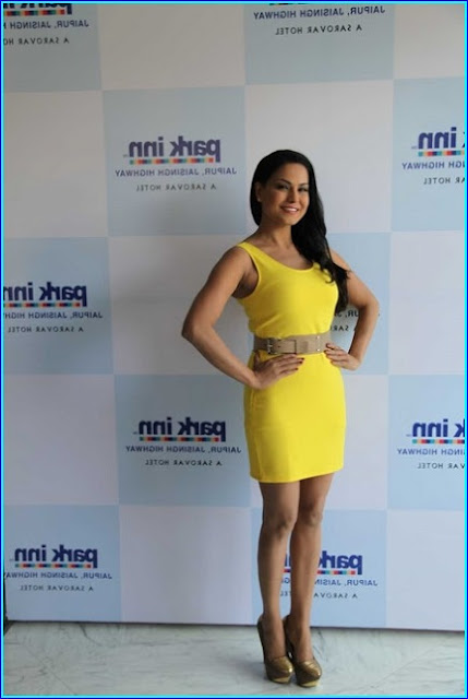Veena Malik in Yellow Dress