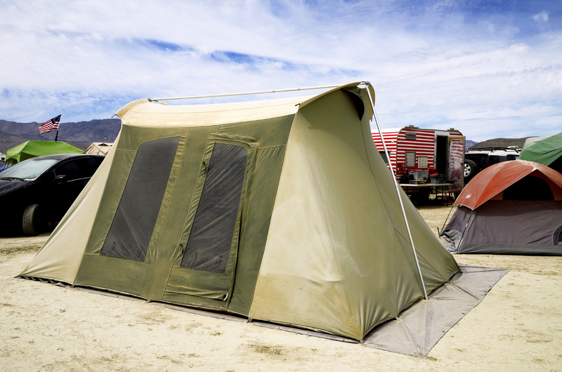 Kodiak/Springbar tent. Cabelas XWT tent without the fly & This is Black Rock City: Camping in style or not at Black Rock City