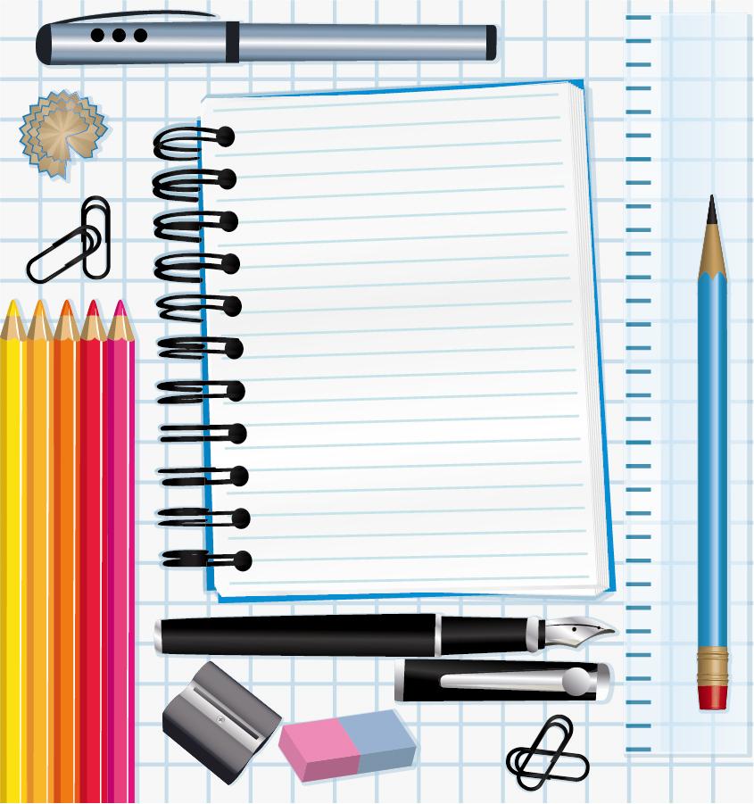 筆記用具 school supplies vector イラスト素材