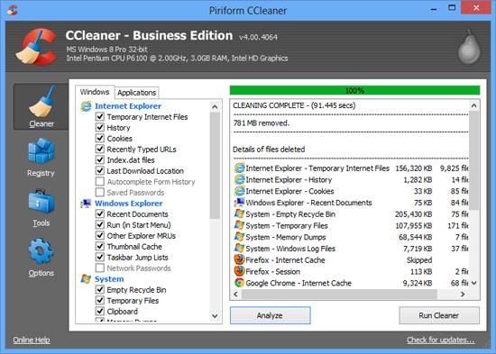 CCleaner 4.00 Business Edition Full Patch 2