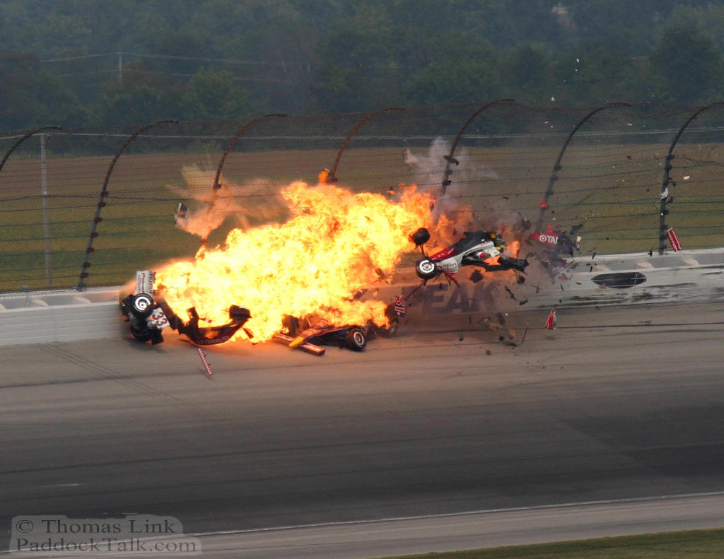 Indy Car Crash http://piersmorgan.blogs ...