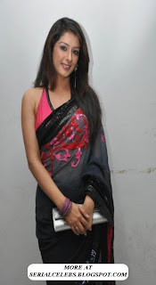 Sameeksha in low hip saree