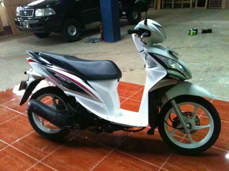 Modifikasi Honda Spacy Putih