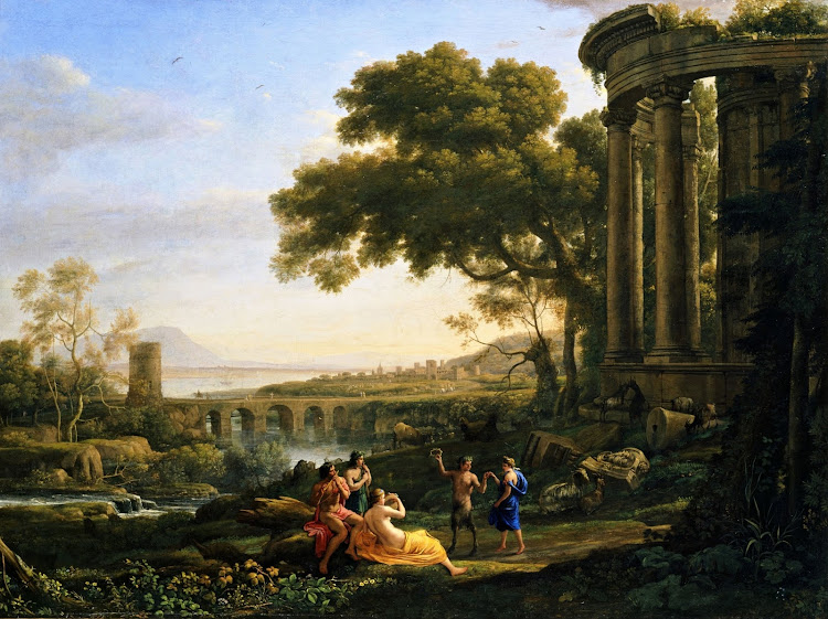 Claude Lorrain - Landscape with Nymph and Satyr Dancing (c.1641)