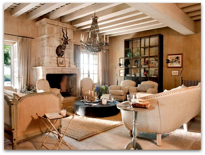 Art symphony french country house interior for Interior country home designs