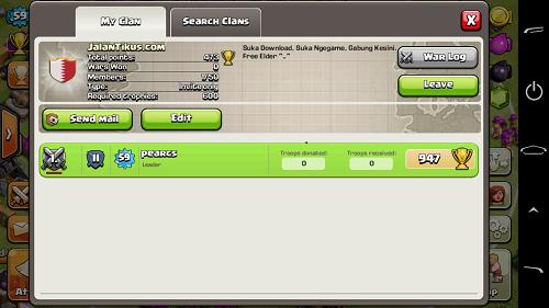 Bergabung dengan Clan Lain