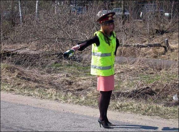 شرطية مرور مضحكة