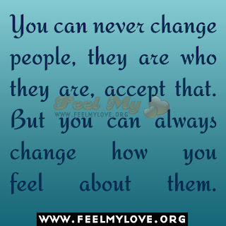 You can never change people