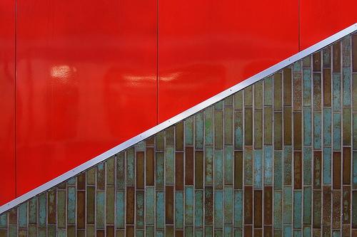 Diagonal photography composition