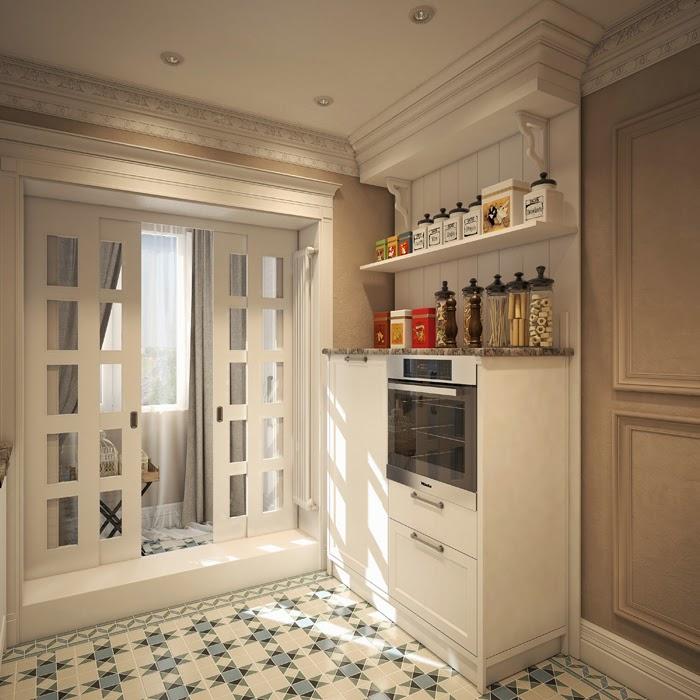 Шторы для кухни с потолочным карнизом фото