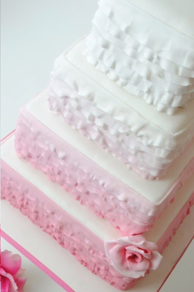 pink tier ombre cake