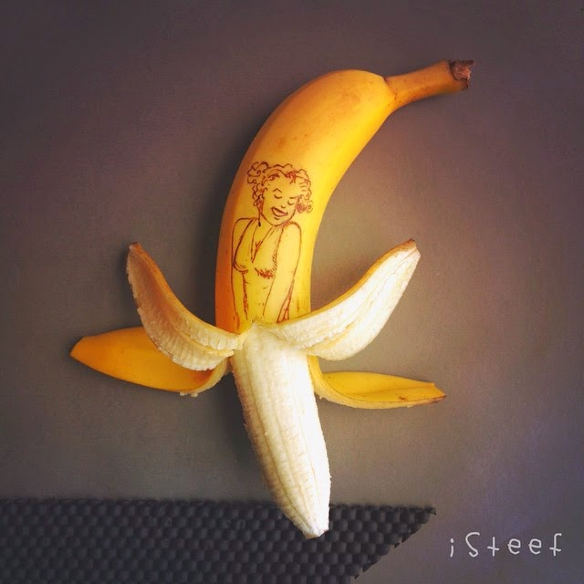 Marilyn Monroe - Banana Art por Stephan Brusche