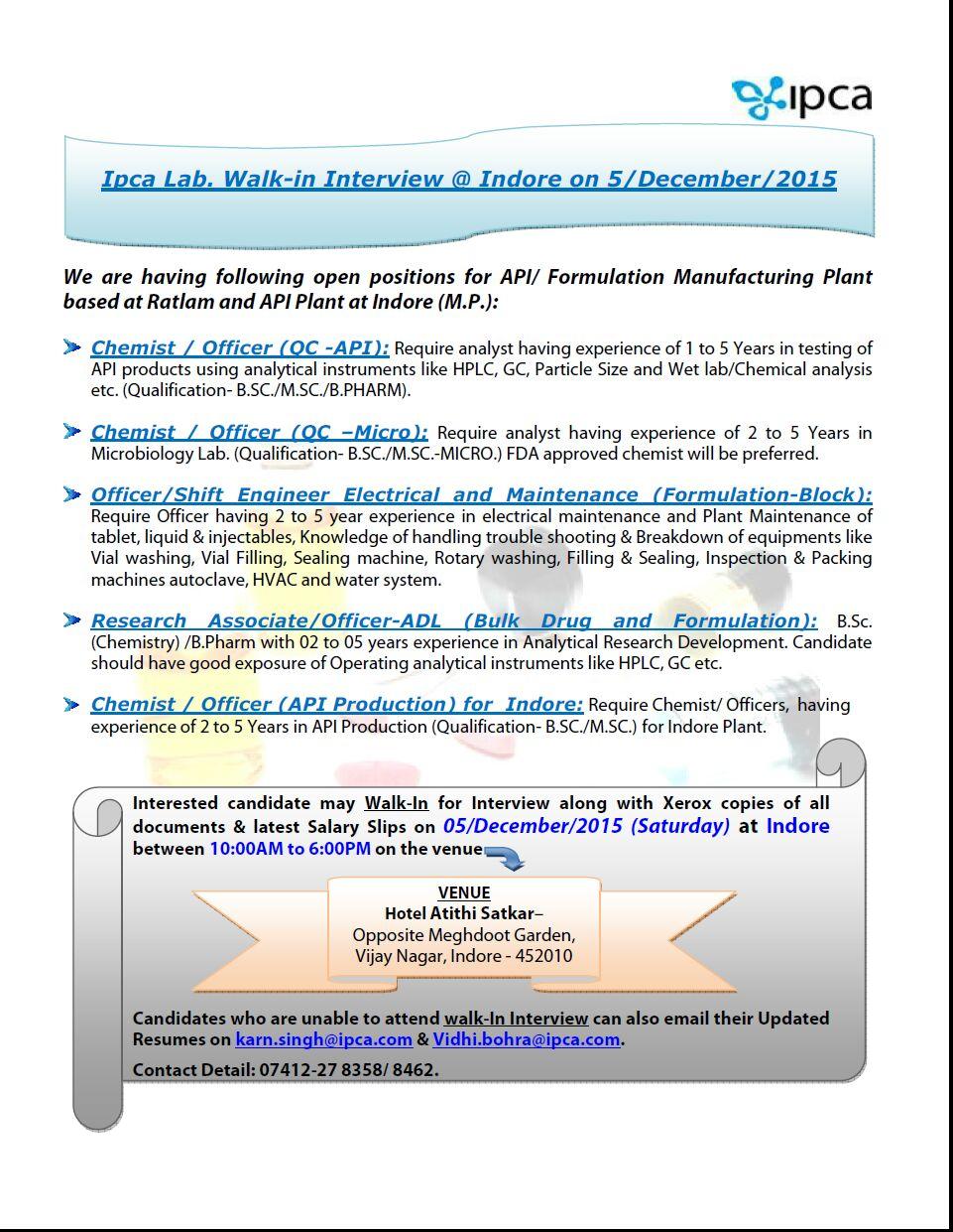 Sample resume for analytical chemist