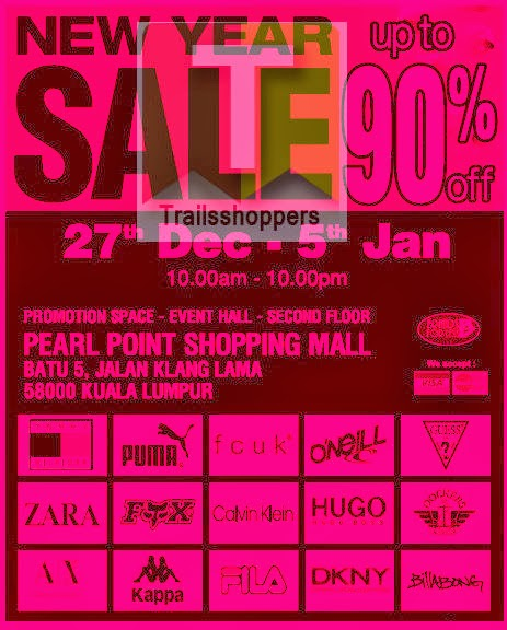 Branded Apparels New Year Sale 2013 2014