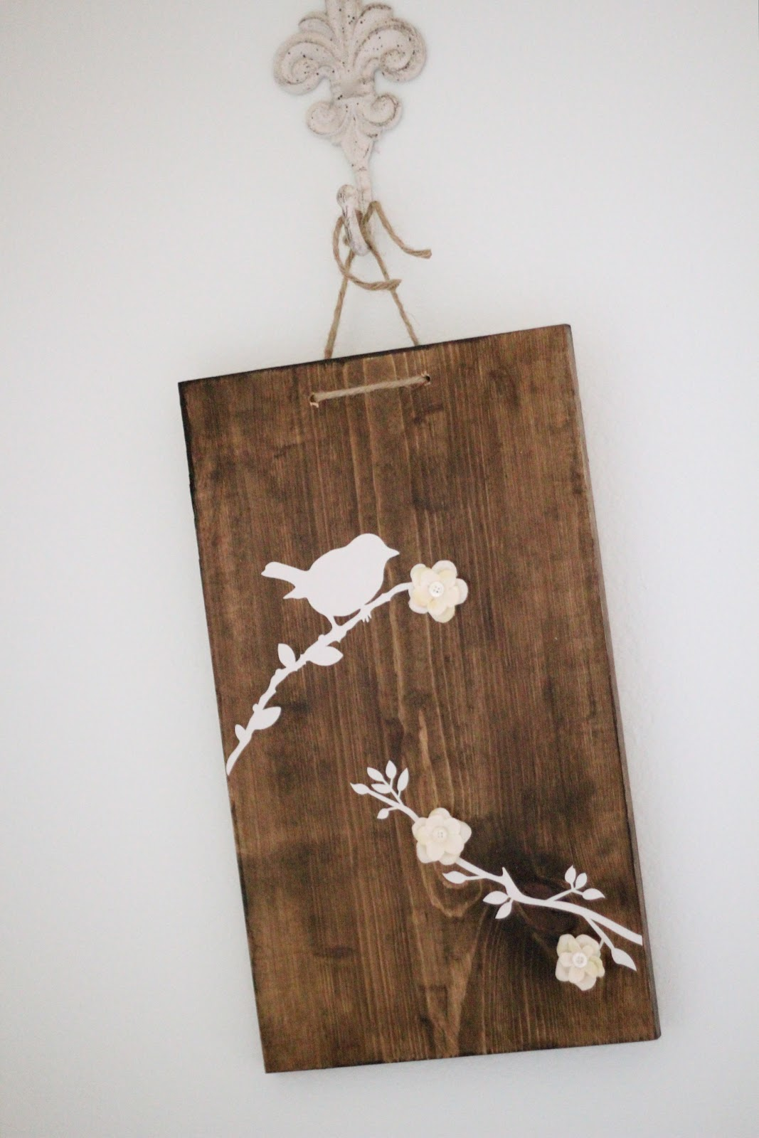 Wooden Birds and Branches Wall Art