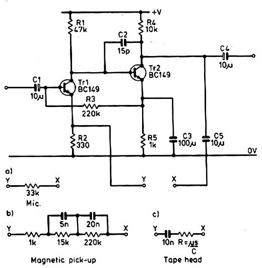 Circuito General : Muchos circuitos electronicos circuito preamplificador de